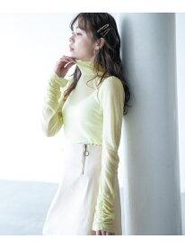 [Rakuten Fashion]【SALE/56%OFF】TNシアーシャーリングPO Heather ヘザー ニット 長袖ニット イエロー グリーン ホワイト ブラック【RBA_E】