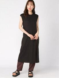 【SALE/60%OFF】フカスリットマキシOP/NS Heather ヘザー ワンピース ノースリーブワンピース ブラック ベージュ パープル【RBA_E】[Rakuten Fashion]