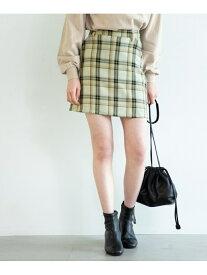 【SALE/66%OFF】アソートガラミニSK Heather ヘザー スカート 台形スカート/コクーンスカート ブラック ベージュ【RBA_E】[Rakuten Fashion]