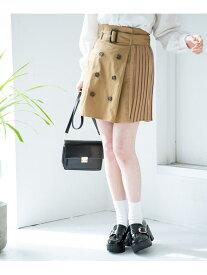 [Rakuten Fashion]【SALE/66%OFF】SプリーツトレンチミニSK Heather ヘザー スカート タイトスカート ベージュ ブラウン【RBA_E】