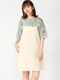 【SALE/66%OFF】Bリボンキャミジャンスカ Heather ヘザー スカート ジャンパースカート ホワイト ブルー【RBA_E】[Rakuten Fashion]