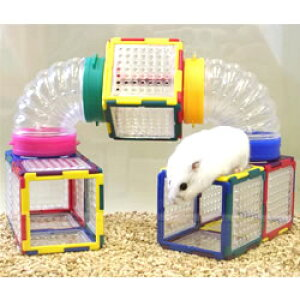 トイビルダー 6041/おもちゃ ブロック 組立て プレート 遊び場 トンネル お家 ハウス 小動物 ハムスター ジャンガリアン ゴールデン