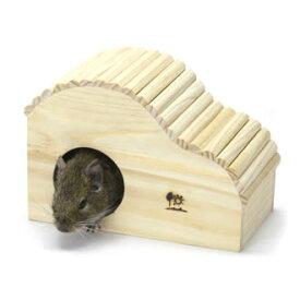 ウェーブハウス<M>/お家 寝床 木製ハウス ゴールデンハムスター シマリス デグー 三晃商会 SANKO