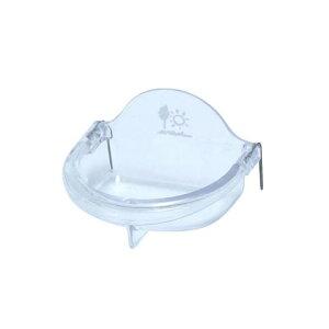 浅型バード食器 S/エサ入れ 餌入れ 透明 フードフィーダー 小鳥 セキセイ オカメインコ 文鳥 サンコー SANKO 三晃商会