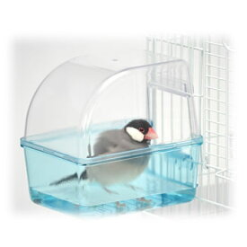 小鳥の快適バスタイム/水浴び容器 透明 固定 ケージ ゲージ 文鳥 小鳥 サンコー SANKO WILD 三晃商会