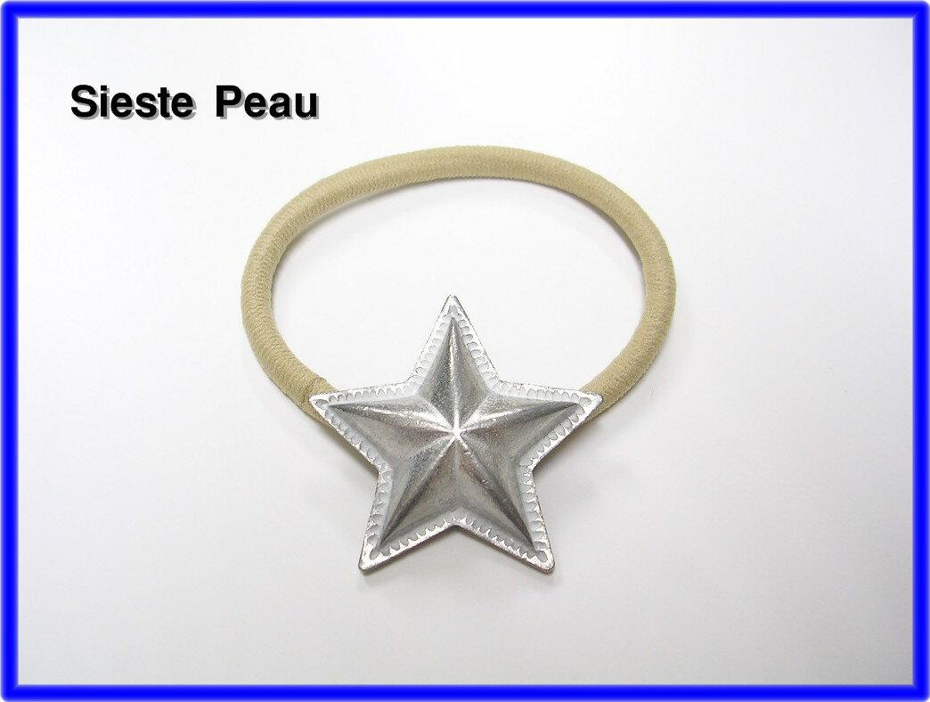人気 Beige【Sieste Peau [シエスタポー] STAR CONCHO HAIR ELASTIC スターコンチョヘアゴム】Ron Herman ロンハーマン取り扱い