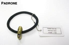 Gold【PADRONE x amp japan Hair Gum パドローネ x アンプ ジャパン ヘアゴム ブレスレット 短靴コンチョ ゴールド】PG9997-7301-16C