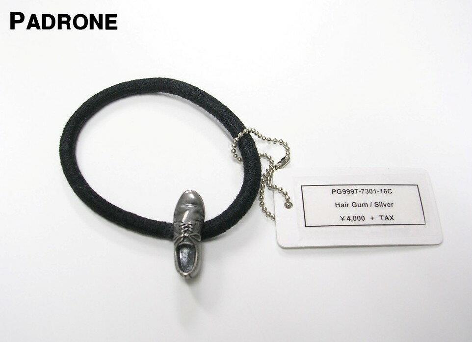 Silver【PADRONE x amp japan Hair Gum パドローネ x アンプ ジャパン ヘアゴム ブレスレット 短靴コンチョ シルバー】PG9997-7301-16C