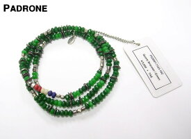 Green【PADRONE x amp japan Quartz Bracelet パドローネ x アンプ ジャパン ブレスレット ネックレス アンクレット】PG9997-7103-16C
