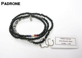 Black【PADRONE x amp japan Silver Bracelet パドローネ x アンプ ジャパン ビーズ&ブラス ブレスレット ネックレス】PG9997-7102-16C