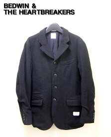"1 Black【BEDWIN & THE HEARTBREAKERS [ベドウィン&ザ・ハートブレーカーズ] 5B TWEED TATLOR JKT MILLING ""MICHAEL"" 5Bツイードテーラードジャケト MICHAEL】14AB5330【中古】"