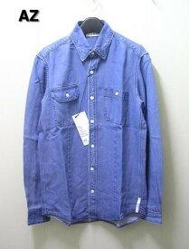M 【AZ エーゼイ [junhashimoto] Tencel Dnim Shirts Bleach tennseru デニムシャツ buri-chi】