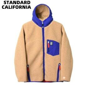 L BEIGE/BLUE【STANDARD CALIFORNIA SD HEAVY CLASSIC PILE JACKET DLS L3 スタンダードカリフォルニア パイル ジャケット】