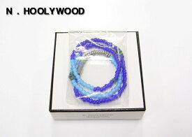 人気 2013 BLUE【N.HOLLYWOOD [ミスターハリウッド] ビーズネックレス ブレスレット エヌハリウッド】932-AC04pieces【新品】