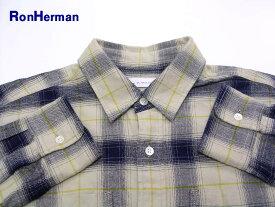 M【Ron Herman ロンハーマン チェックネルシャツ NO.2620700047 1071】【中古】