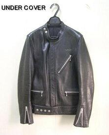 0 黒 BLACK【UNDERCOVER アンダーカバー レザーライダースジャケット】B4213【中古】