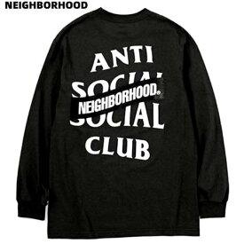 L BLACK【AntiSocialSocialClub X NEIGHBORHOOD ASSC-1 / C-TEE . LS 202GEASN-LTM01S アンチソーシャルソーシャルクラブ X ネイバーフッド ロンTシャツ ロングスリーブTシャツ Anti Social Social Club】