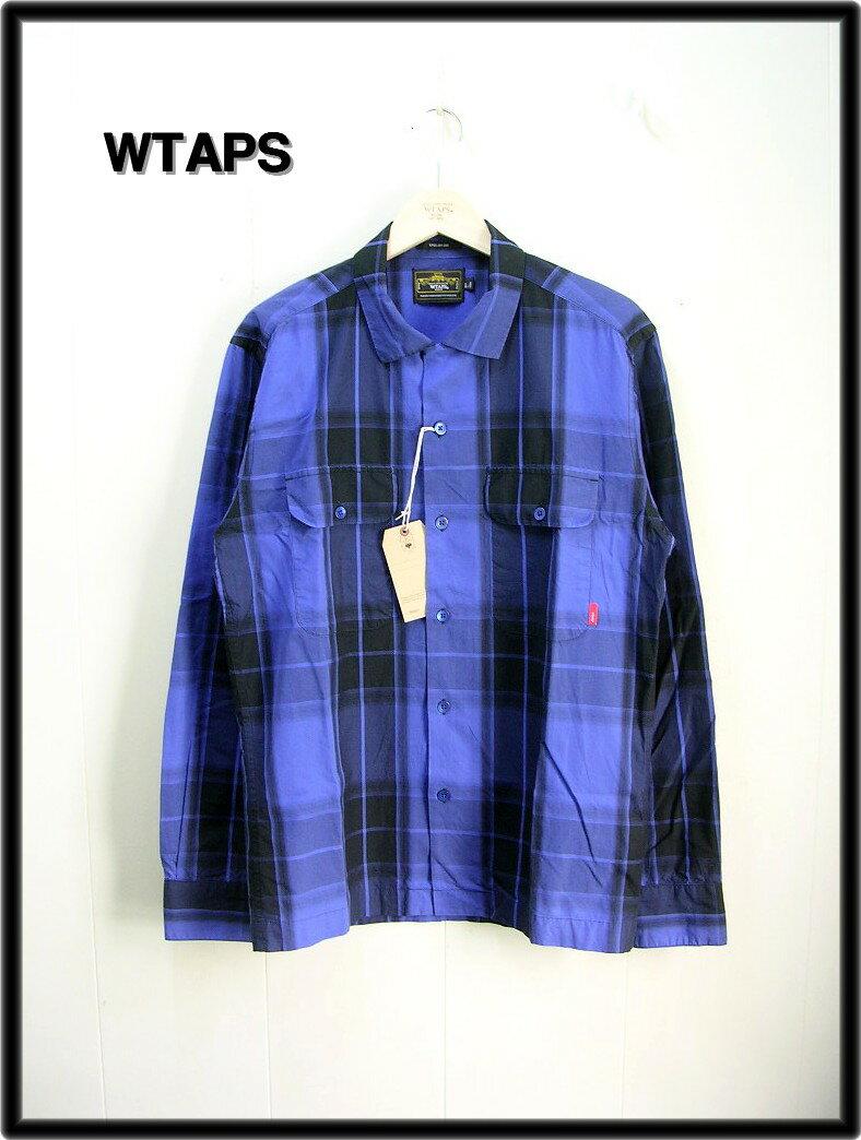 L 青 Blue 【WTAPS [ダブルタップス] VATOS L/S チェックシャツ】131GWPT-SHM05【中古】