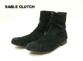 26.5 BLACK【SABLE CLUTCH セーブルクラッチ スウェードブーツ スエード】【中古】