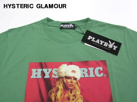 L 緑 GREEN【HYSTERIC GLAMOUR MAY2008-COVER pt T-SH PLAYBOY プレイボーイ ヒステリックグラマーNo. 12173CT01460】