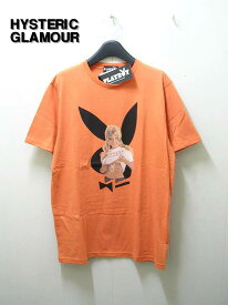 L ORENGE【HYSTERIC GLAMOUR ヒステリックグラマー PLAYBOY 'SEPTEMBER'69 COVER'Tシャツ】1242CT02【新品】