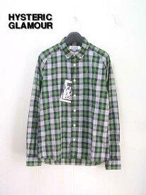 S 【HYSTERIC GLAMOUR ヒステリックグラマー チェックシャツ】0213AH01264【新品】