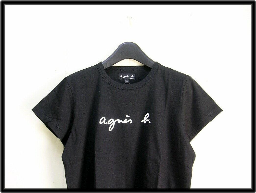 人気 1 レディース 黒 Black【agnes b. FEMME LOGO TEE [アニエスベー] ロゴ Tシャツ】