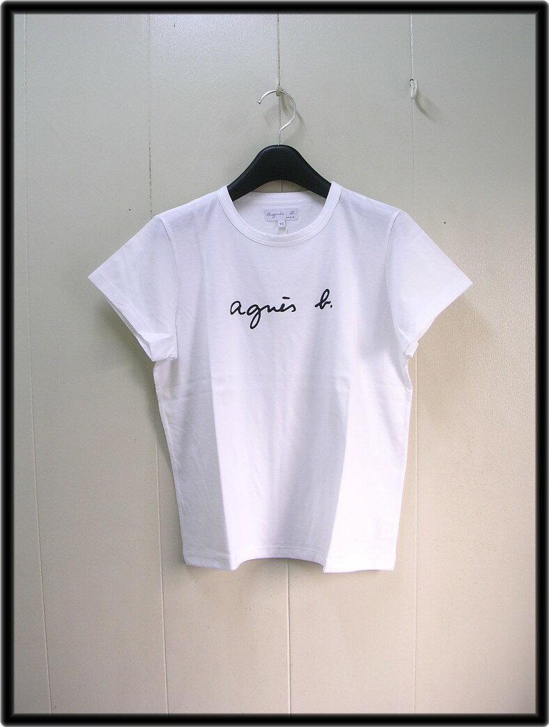1番人気 1 レディース 白 White【agnes b. FEMME LOGO TEE アニエスベー ロゴ Tシャツ】