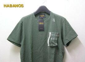 M 【HABANOS ポケットUネックTシャツ】A13-CT-01【新品】