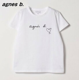 3 レディース 白 White【agnes b. FEMME LOGO TEE アニエスベー ロゴ Tシャツ ハート 2653-SBX4 日本国内正規品】