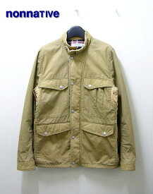 0 Beige【nonnative [ノンネイティブ] RIDER JACKET – COTTON MIX WEATHER PARAFFIN COATED ライダージャケット】NN-J1803【中古】