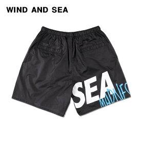 L 黒【WIND AND SEA MADNESS NYLON PANTS / BLACK (PT-01) マッドネス x ウィンダンシー ナイロン パンツ 19ss ショーツ ショートパンツ】