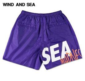 L【WIND AND SEA MADNESS NYLON PANTS / PURPLE (PT-01) マッドネス x ウィンダンシー ナイロン パンツ 19ss ショーツ ショートパンツ】