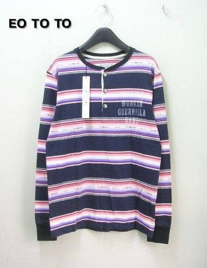 M【EOTOTO ネィティブボーダーカットソー ロンtシャツ】10AW-CSL-004【新品】