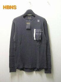 M【HABANOS ポケットロンTシャツ】A13-WF01