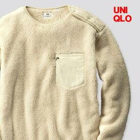 L Off White【UNIQLO x Engineered Garments フリースプルオーバー(長袖)ユニクロ x エンジニアドガーメンツ フリースプルオーバー 白 オフホワイト メンズ レディース ユニセックス 男女兼用 エンジニアードガーメンツ】
