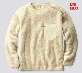 M Off White【UNIQLO x Engineered Garments フリースプルオーバー(長袖)ユニクロ x エンジニアドガーメンツ フリースプルオーバー 白 オフホワイト メンズ レディース ユニセックス 男女兼用 エンジニアードガーメンツ】