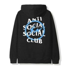 L Black/Blue【Fragment Design x ANTI SOCIAL SOCIAL CLUB Bolt Hoodie フラグメントデザイン x アンチ ソーシャル ソーシャル クラブ ブルー ボルト フーディー パーカー ブラック/ブルー 2019AW 正規品】
