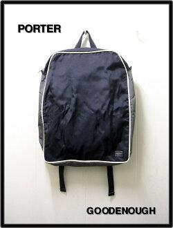 [GOODENOUGH[古迪纳夫]x PORTER[搬运工人]帆布背包包包]