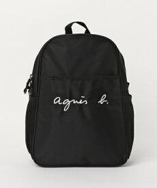 BLACK【agnes b.ENFANT GL11 E BAG 6864GL11 アニエスベー アンファン リュックサック バックパック バッグ KIDS キッズ 日本国内正規品】
