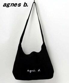 BLACK【agnes b. BAG アニエスベー ショルダーバッグ バック 日本国内正規品】