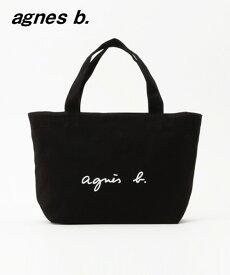 日本国内正規品 BLACK 黒【agnes b. アニエスベー トートバッグ ブラック キャンバス ロゴバッグ バック】