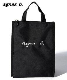 Black【agnes b. ENFANT GL11 E LUNCH BAG ロゴ刺繍 保冷ランチバッグ アニエスベー アンファン お弁当入れ】