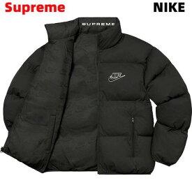 L 国内正規品【Supreme Nike Reversible Puffy Jacket Black DB0494-010 シュプリーム ナイキ リバーシブル パフィ ジャケット 黒 ブラック 2021ss】