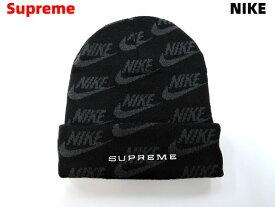 Black【Supreme Nike Jacquard Logos Beanie ナイキ シュプリーム ビーニー ニットキャップ ニット帽 ジャガード ロゴ 黒 ブラック 2021ss】【中古】