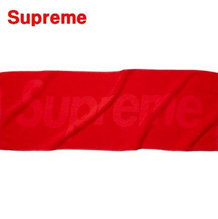 2017ss 赤【Supreme Terry Logo Hand Towel Red シュプリーム テリー ロゴ ハンド タオル】国内正規品