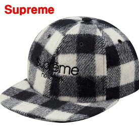 White【Supreme Buffalo Plaid Wool Classic Logo 6-Panel Cap シュプリーム キャップ】