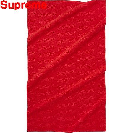 Red 2018SS【Supreme Debossed Logo Beach Towel シュプリーム デボス ロゴ ビーチタオル 赤 レッド】