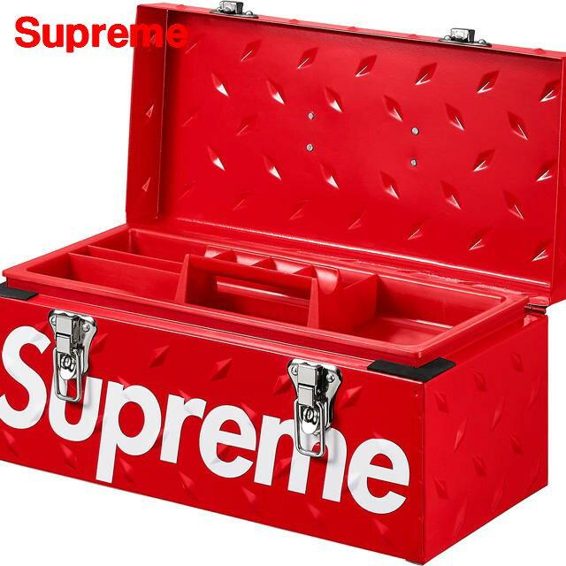 Red【Supreme シュプリーム 18AW Diamond Plate Tool Box ツールボックス 赤 レッド】
