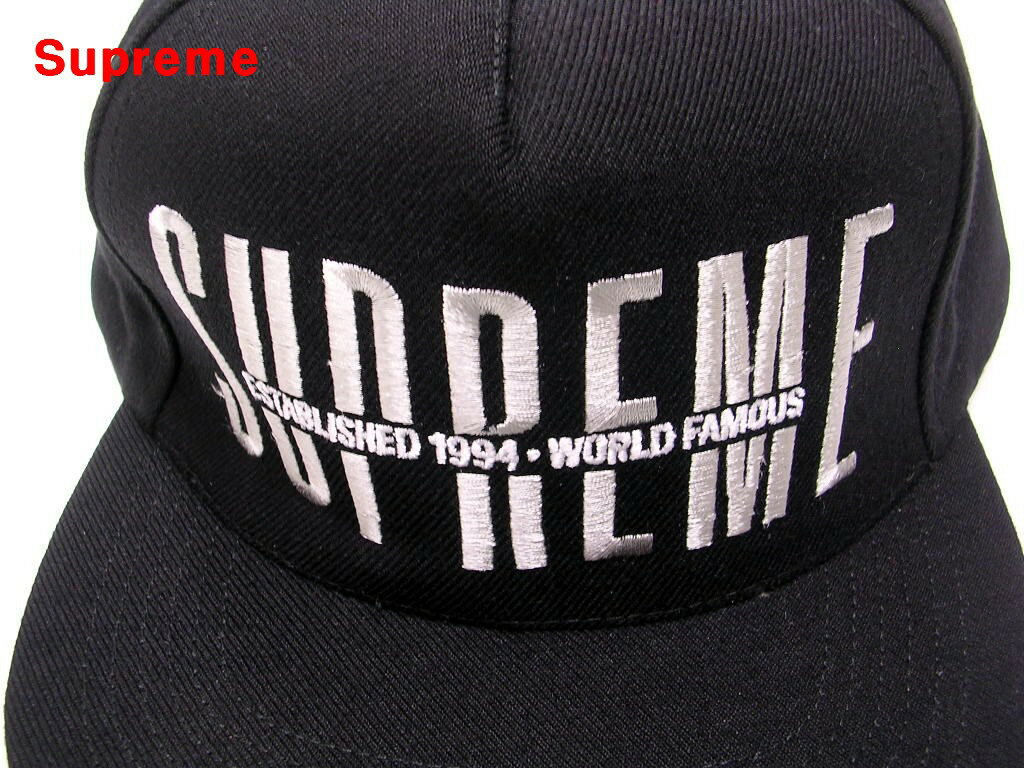 Black【Supreme Global 5-Panel シュプリーム グローバル 5パネル キャップ 黒 18FW 18AW】